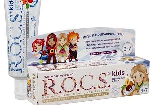 детская зубная паста рокс