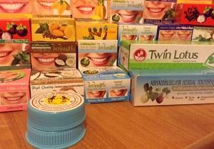 тайская зубная паста отбеливающая